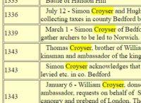 Crosier Time Line