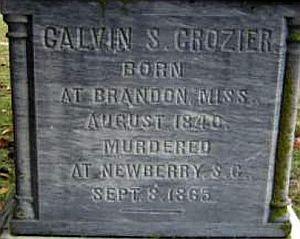 Calvin Crozier memorial